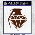 Diamond JDM Grenade D1 Decal Sticker BROWN Vinyl 120x120