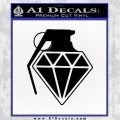 Diamond JDM Grenade D1 Decal Sticker Black Vinyl 120x120