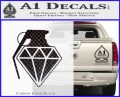 Diamond JDM Grenade D1 Decal Sticker Carbon FIber Black Vinyl 120x97