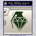 Diamond JDM Grenade D1 Decal Sticker Dark Green Vinyl 120x120