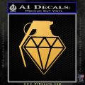 Diamond JDM Grenade D1 Decal Sticker Gold Vinyl 120x120