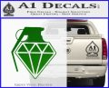 Diamond JDM Grenade D1 Decal Sticker Green Vinyl Logo 120x97