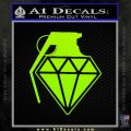 Diamond JDM Grenade D1 Decal Sticker Lime Green Vinyl 120x120