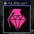 Diamond JDM Grenade D1 Decal Sticker Pink Hot Vinyl 120x120