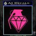 Diamond JDM Grenade D1 Decal Sticker Pink Hot Vinyl 120x120