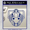 Doctor Who Cybermen Decal Sticker D1 Blue Vinyl 120x120