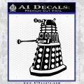 Doctor Who Dalek Decal Sticker D1 Black Vinyl 120x120