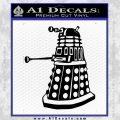 Doctor Who Dalek Decal Sticker D1 Black Vinyl 120x120