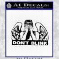 Doctor Who Dont Blink Angel Decal Sticker Black Vinyl 120x120