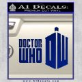 Doctor Who Logo 2010A Decal Sticker Blue Vinyl 120x120