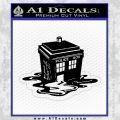 Doctor Who Melted Tardis Decal Sticker Black Vinyl 120x120
