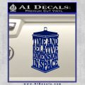 Doctor Who TARDIS Acronym Decal Sticker Blue Vinyl 120x120