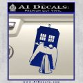 Doctor Who TARDIS Angel Decal Sticker Blue Vinyl 120x120