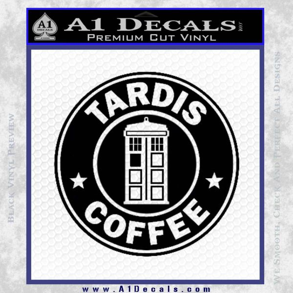 Doctor Who Tardis Coffee Decal Sticker Starbucks 187 A1 Decals