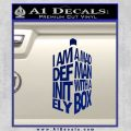 Doctor Who Tardis Mad Man With A Box Decal Sticker Blue Vinyl 120x120