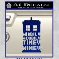 Doctor Who Tardis Wibbly Wobbly Timey Wimey Decal Sticker Blue Vinyl 120x120
