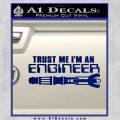 Doctor Who Trust Me Im An Engineer Decal Sticker Blue Vinyl 120x120