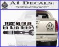 Doctor Who Trust Me Im An Engineer Decal Sticker Carbon FIber Black Vinyl 120x97