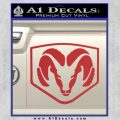 Dodge Decal Sticker Shield Red 120x120