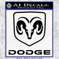 Dodge Logo Decal Sticker Black Vinyl 120x120