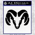Dodge Ram Decal Sticker Black Vinyl 120x120