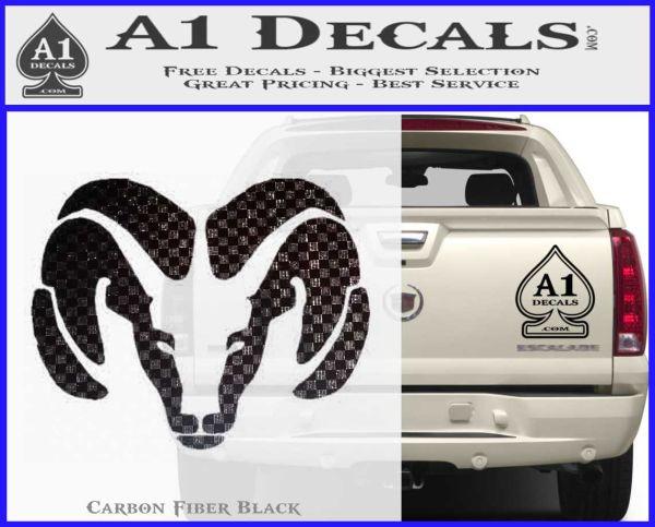 Dodge Ram Decal Sticker Head 187 A1 Decals