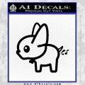 Dog Fart Decal Sticker Black Vinyl 120x120