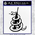 Dont Tread On Me Snake Machine Gun Decal Sticker Black Vinyl 120x120