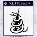 Dont Tread On Me Snake Machine Gun Decal Sticker Black Vinyl 120x120