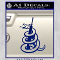 Dont Tread On Me Snake Machine Gun Decal Sticker Blue Vinyl 120x120
