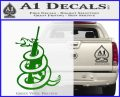Dont Tread On Me Snake Machine Gun Decal Sticker Green Vinyl Logo 120x97