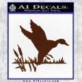 Duck In Swamp Decal Sticker BROWN Vinyl 120x120