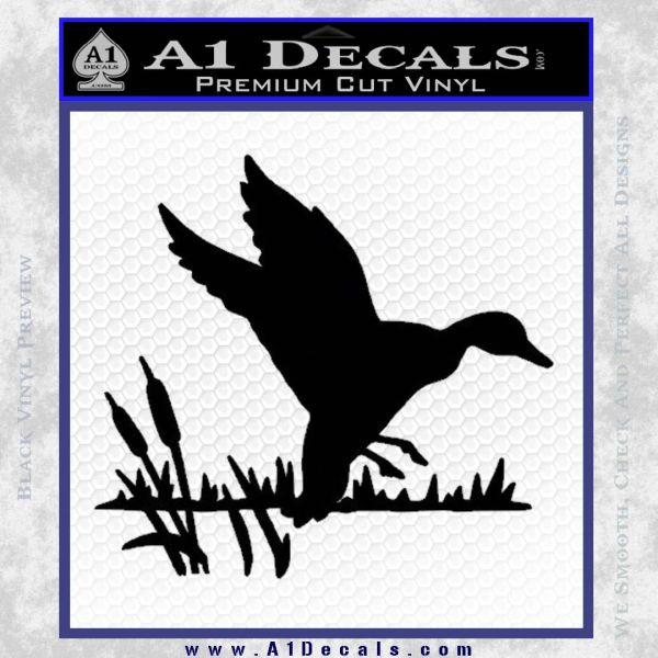 Duck In Swamp Decal Sticker Black Vinyl