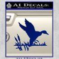 Duck In Swamp Decal Sticker Blue Vinyl 120x120