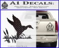Duck In Swamp Decal Sticker Carbon FIber Black Vinyl 120x97