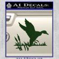 Duck In Swamp Decal Sticker Dark Green Vinyl 120x120