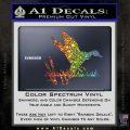 Duck In Swamp Decal Sticker Glitter Sparkle 120x120