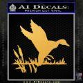 Duck In Swamp Decal Sticker Gold Vinyl 120x120