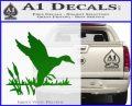 Duck In Swamp Decal Sticker Green Vinyl Logo 120x97