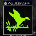 Duck In Swamp Decal Sticker Lime Green Vinyl 120x120