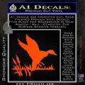 Duck In Swamp Decal Sticker Orange Emblem 120x120