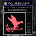 Duck In Swamp Decal Sticker Pink Emblem 120x120