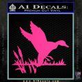 Duck In Swamp Decal Sticker Pink Hot Vinyl 120x120