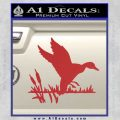 Duck In Swamp Decal Sticker Red 120x120