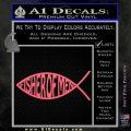 Fisher Of Men Jesus Fish Decal Sticker Pink Emblem 120x120