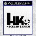 Heckler Koch Js Hk Decal Sticker Black Vinyl 120x120
