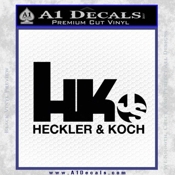 Heckler koch js hk decal sticker black vinyl