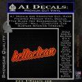 Hella Clean Hellaclean Wide Decal Sticker Orange Emblem 120x120
