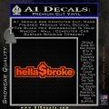 Hellabroke Dollar Decal Sticker Orange Emblem 120x120