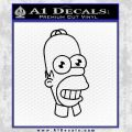 Homer Mr Sparkle Decal Sticker Black Vinyl Black 120x120